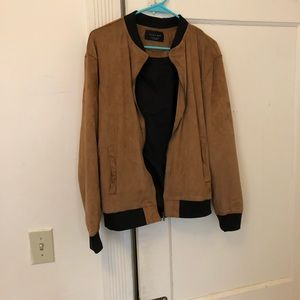 Zara Brown Suede Bomber